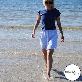 ... nun ist es mein neues Sommerkleid!      Ich habe das hellblau-gestreifte Hemd einfach unter den Armen abgeschnitten und an ein breites W...