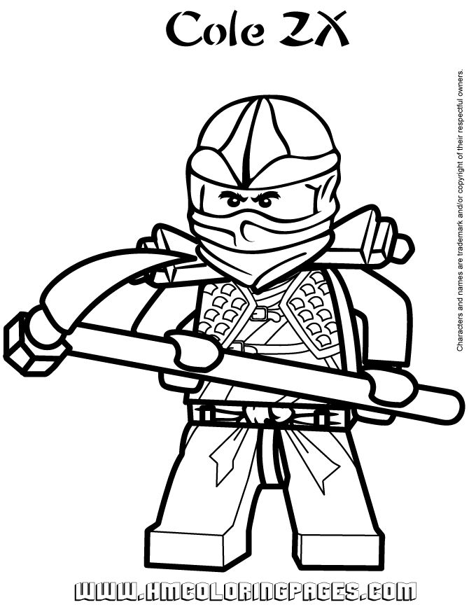 Ninjago Cole ZX Coloring Page | Free Printable Coloring Pages