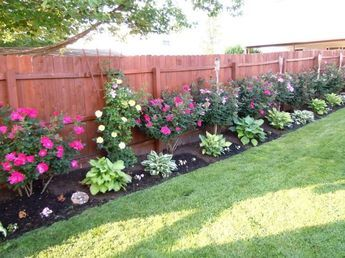 Garden Ideas Along Fence best 25+ landscaping along fence ideas on pinterest | privacy