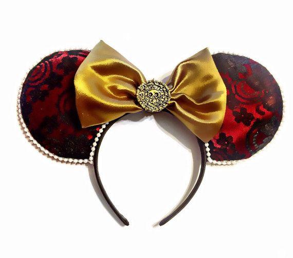 Disney Pirates des Caraïbes, on veut la souris de Mickey Redhead - oreilles de souris personnalisé, les oreilles, oreilles de Disneyland