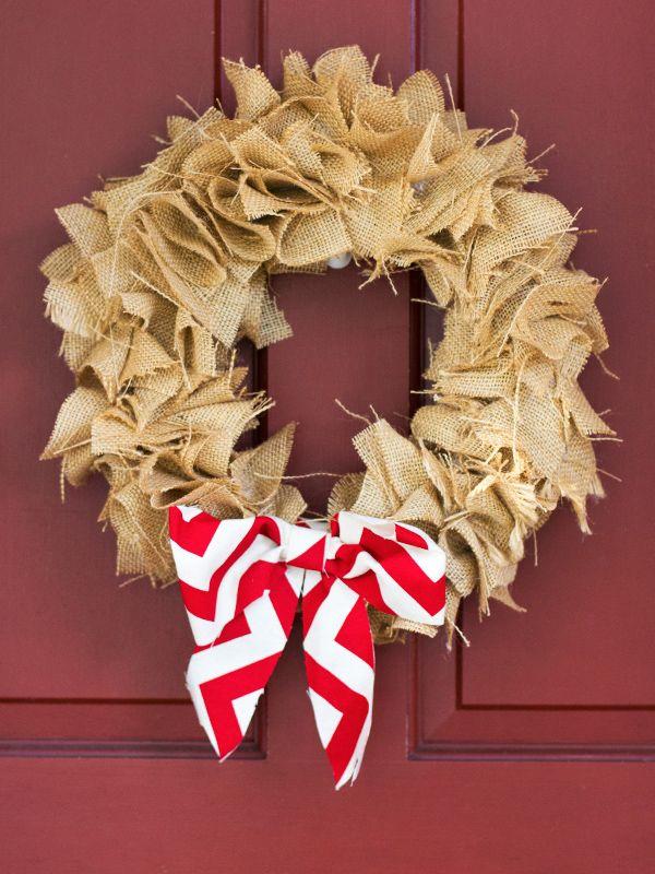 DIY Burlap Wreath Christmas Crafternoon