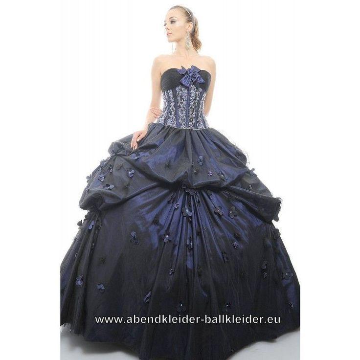 elegantes ballkleid berlin in dunkel blau  ballkleid