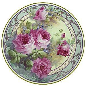 Purple roses - round