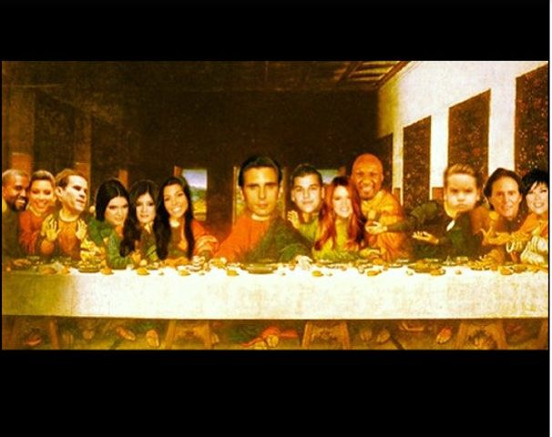 Scott Disick Instagram Photo of 'Last Supper;' Kourtney Kardashian Husband Posts Photoshopped Picture with Kanye West, Kim Kardashian, Ex-Kris Humphries, Bruce and Kris Jenner, Rest of Family    http://www.beautyworldnews.com/articles/5192/20130812/scott-disick-instagram-photo-last-supper-kourtney-kardashian-husband-posts-photoshopped-picture-kanye-west-kim-kardashian-kris-humphries-bruce-kris-jenner-rest-family.htm