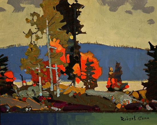 "Lake of the Woods by Robert Genn, 8 x 10"", acrylic painting 