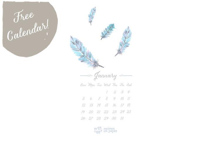 Calendario para Enero 2014 imprimible y para escritorio