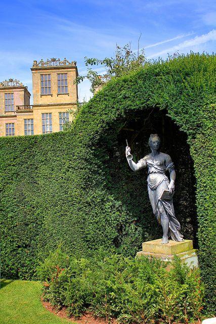 Sculpture in park of Hardwick Hall, Derbyshire.