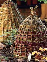 Как сделать зимнее укрытие из прутьев