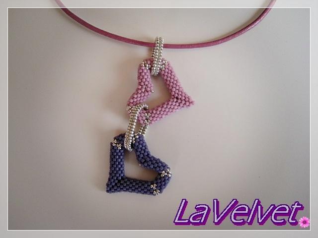 El trastero de LaVelvet  Colgante corazones de Vyolina
