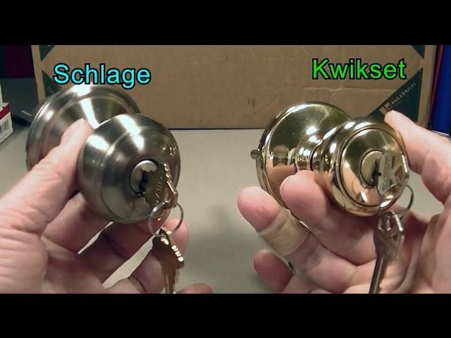 Kwikset vs Schlage Locks! Which is Better? I'll show you the differences between the Kwikset and Schlage Locks.  I'll take apart both knob locks and show you the difference.  Then I'll show you how we can make the Kwikset lock as secure as the Schlage lock by changing the pins.  Schlage vs Kwikset Locks Kwikset vs Schlage Locks