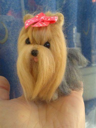 OOAK Needle felted Yorkie Yorkshire Terrier Puppy/Dog in Dolls & Bears, Bears, Artist, One of a Kind | eBay