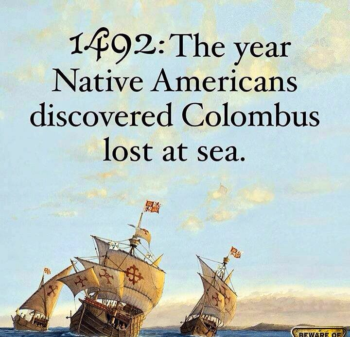 Should have sunk his bloody ship. . . .>  The Aborigines could say the same about Captain Cook.