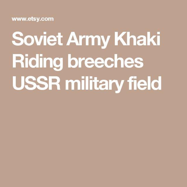 Soviet Army Khaki Riding breeches USSR military field
