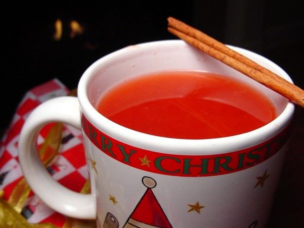 This is a wonderful fruity mulled apple drink that will warm you inside and out.