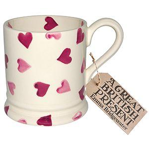 """""""Pink Hearts"""" Pink Hearts 1/2 Pint Mug at Emma Bridgewater"""