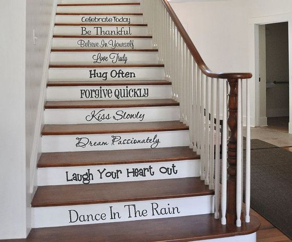 Stair Decals Words to Live by Family by CreativeExpressionsz