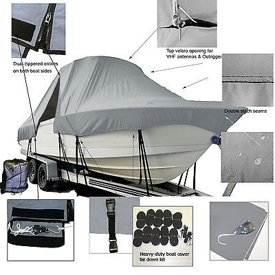 ShearWater 23LTZ Center Console Fishing T-Top Hard-Top Boat Cover
