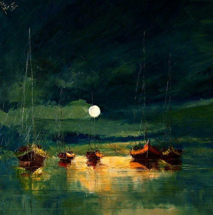 "Saatchi Online Artist: Justyna Kopania; Oil, 2011, Painting ""Night"""
