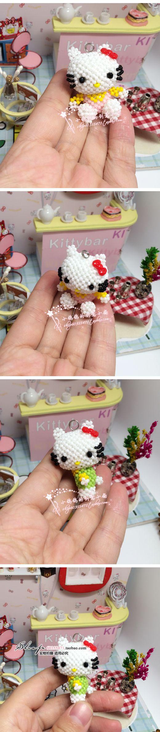DIY串珠材料包 日本TOHO米珠 一套含4个kitty 视频教学 新手推荐-淘宝网全球站