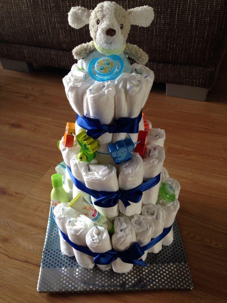 Done  Windeltorte für Jungen - diaper cake for a boy