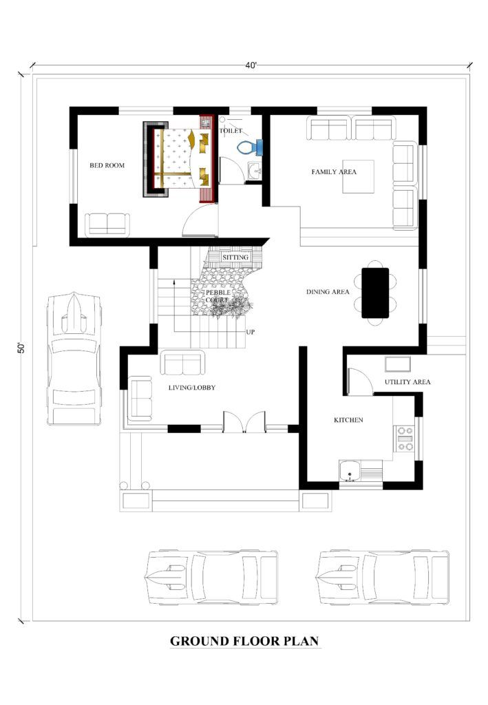 40x50 House Plans For Your Dream House House Plans House Plans How To Plan Dream House Drawing