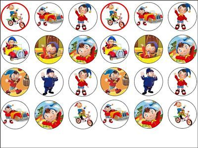 24 X Noddy 16 Inch Wafer Rice Paper Cake Top Toppers cakepins.com