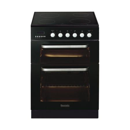 Buy Baumatic BCE625BL Dual Cavity 60cm Electric Cooker - Black from Appliances Direct - the UK's leading online appliance specialist