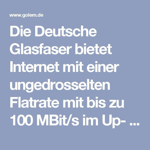 Die Deutsche Glasfaser bietet Internet mit einer ungedrosselten Flatrate mit bis zu 100 MBit/s im Up- und Downstream für monatlich 34,95 Euro, bei 24-monatiger Vertragsbindung. Wer nicht kündigt, dessen Vertrag wird danach um zwölf Monate verlängert, und kostet dann 47 Euro im Monat. Damit ist der Anschluss aber monatlich kündbar. Dazu kommt eine Bereitstellungsgebühr von einmalig 50 Euro.  In dem Paket ist nur die kostenlose Telefonie innerhalb des Deutsche-Glasfaser-Ortsnetzes enthalten…