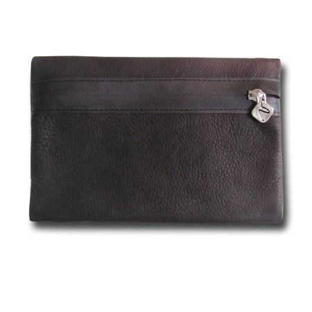 Stylische Ledertasche für Notebook- und iPad-Zubehör!• Farbe: schwarz• Material: echtes Rinderleder• handgefertigt in Berlin• Größe: ca. 21cm x 15cm