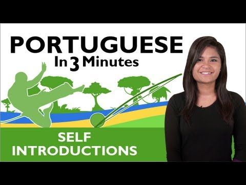 Learn Brazilian Portuguese - How to Introduce Yourself in Brazilian Portuguese - YouTube