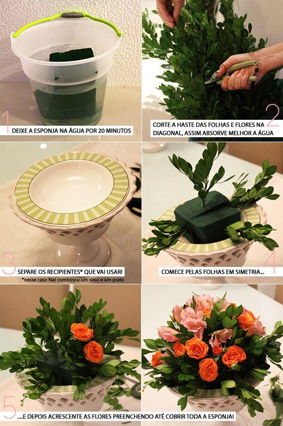 Fazendo seu próprio arranjo de flores!