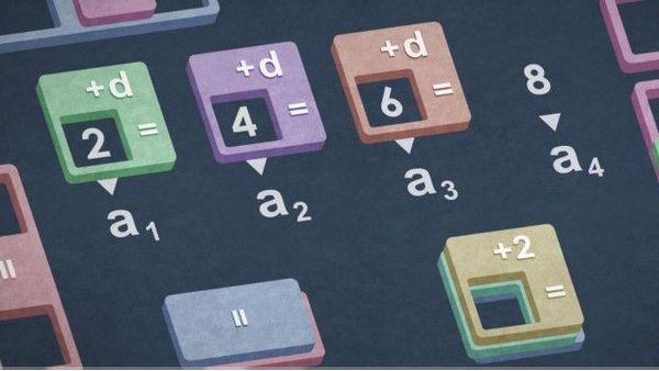 Progresión aritmética. Una progresión aritmética es simplemente una secuencia de números separados por la misma cantidad.