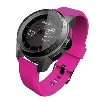 COOKOO WATCH PINK AND BLACK