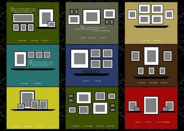 Как красиво повесить фотографии: 75 схем размещения