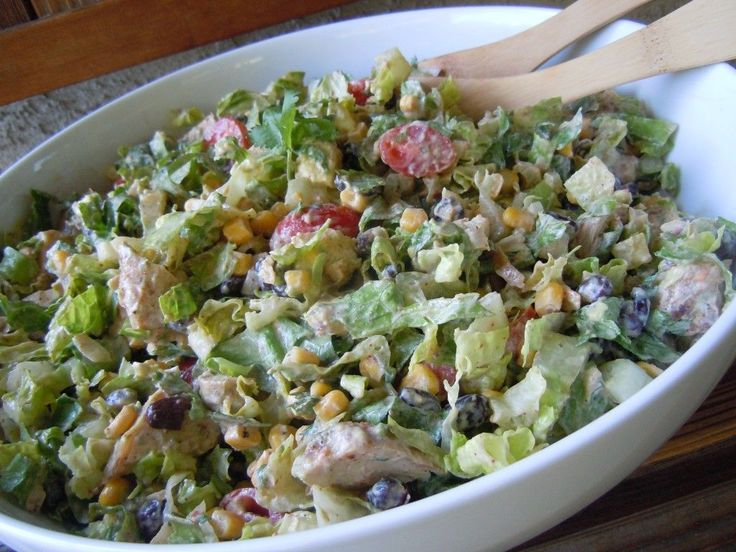 chipotle chicken taco salad :: only 249 calories for 2.5 cups!  It's sounds so good!!!