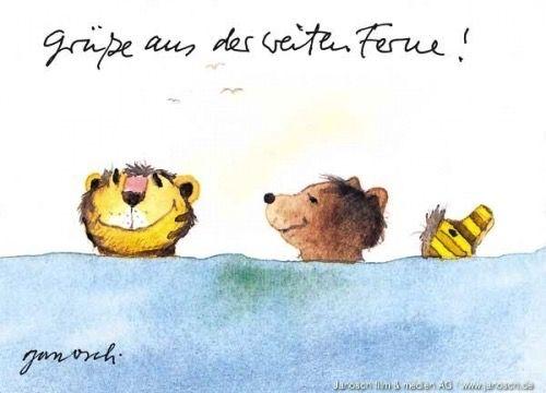 Grüsse aus der weiten Ferne! #Grüsse, #Postkarte, #Janosch