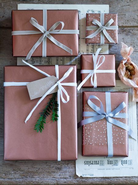 Copper paper and ribbon.