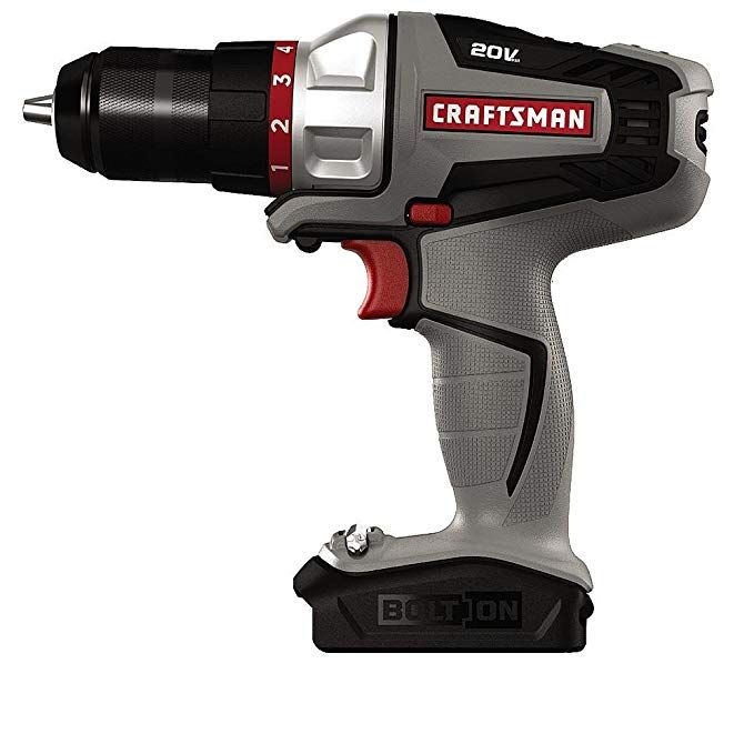 Craftsman Bolt On 20 Volt Max Lithium Ion Drill Driver Kit 16496 Bare Tool Only Bulk Packed Review Craftsman Power Tools Drill Cordless Drill