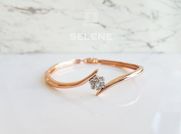 Selene Rose Gold Bangle