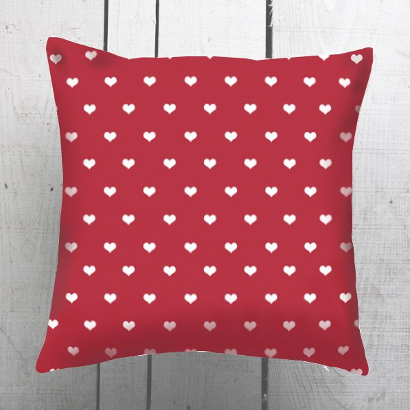 Valentine's Day, Gift, Love, Red Heart Romantic Decorative Pillow Cover Cashion Case Handmade