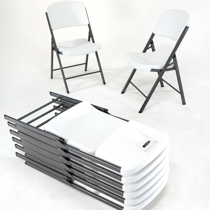 Lifetime Loop Leg Contoured Folding Chair 4 Pack White