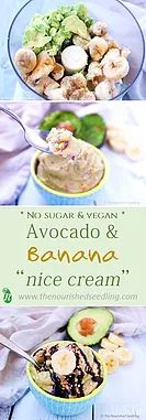 Avocado & Banana Ice Cream -   Prep Time:  5 minutes (plus freezing time)