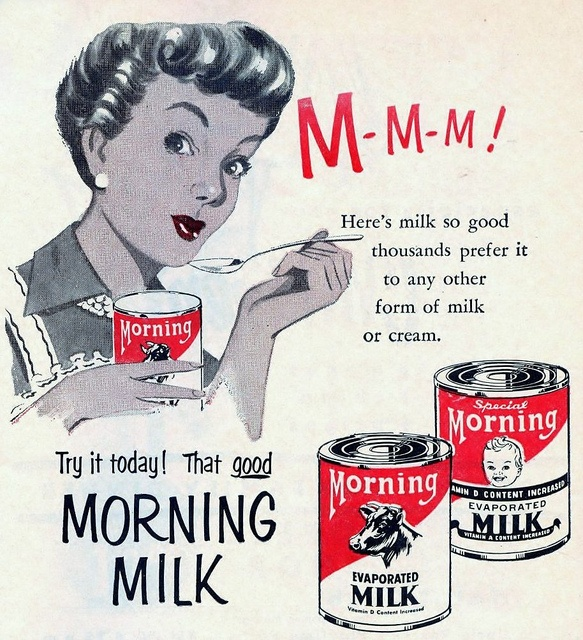 Morning Milk - vintage ad.