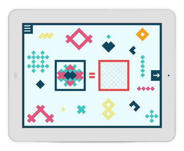 Overcolor game app by Irene Shkarovska, via Behance
