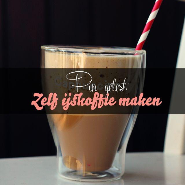 Maak zelf een lekkere ijskoffie. Heerlijk verfrissend op een warme dag!