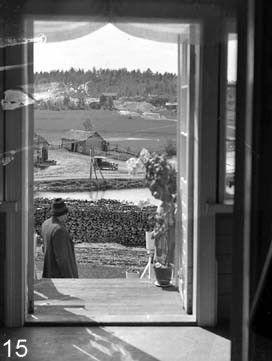"Nice view from the ""white house""  valkoinen talo to the village of Nunnanlahti."