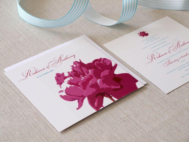 Wedding invitation  Pop Wedding Invitations http://www.alannahrose.com.au/shop/category/wedding-stationery Alannah Rose
