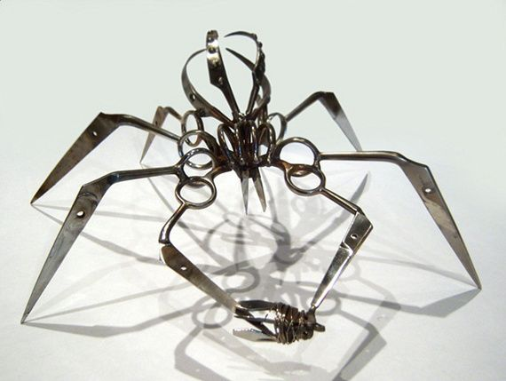 TSA Confiscated Scissor Spiders via @Incredible ThingsMetal Sculptures, Metals Sculpture, Artists Christopher, Bugs, Art Designs, Christopher Locks, Scissors Spiders, Swiss Army Knife, Tsa Confisc
