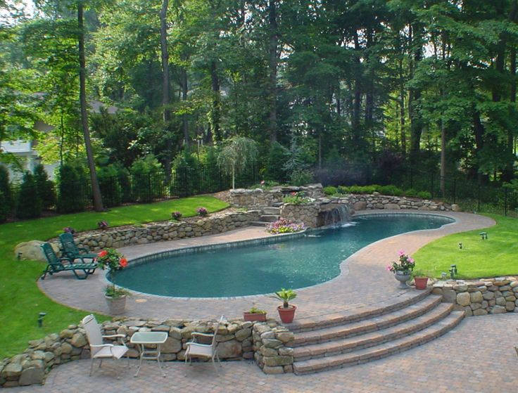 Best 25 kidney shaped pool ideas on pinterest small - Kidney shaped above ground swimming pools ...