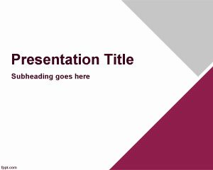 Free business standard PowerPoint template with diagonal styles and triangles